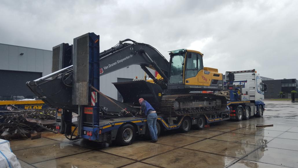 nieuwe kraan 34 tons volvo van drunen sloopwerken b v